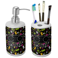 Music DJ Master Ceramic Bathroom Accessories Set (Personalized)