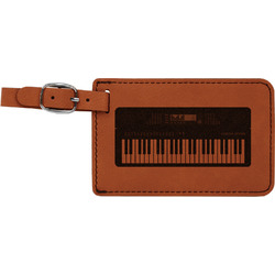 Music DJ Master Leatherette Luggage Tag (Personalized)