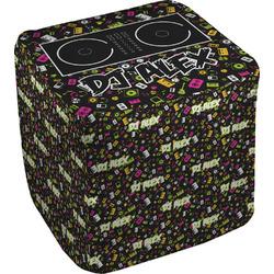 Music DJ Master Cube Pouf Ottoman (Personalized)