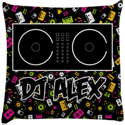 Music DJ Master Decorative Pillow Case w/ Name or Text