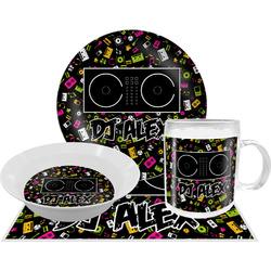 Music DJ Master Dinner Set - 4 Pc w/ Name or Text