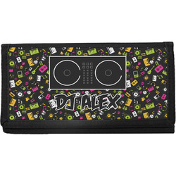 Music DJ Master Canvas Checkbook Cover w/ Name or Text