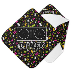 Music DJ Master Hooded Baby Towel w/ Name or Text