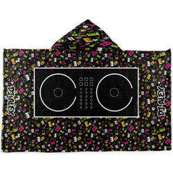 Music DJ Master Kids Hooded Towel (Personalized)