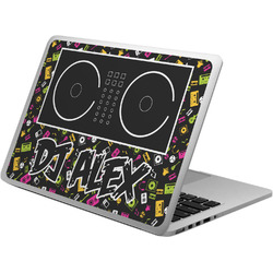 Music DJ Master Laptop Skin - Custom Sized w/ Name or Text