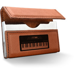 Music DJ Master Leatherette Business Card Case (Personalized)