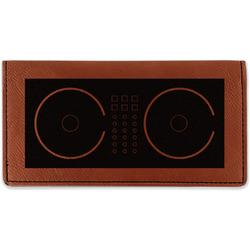 Music DJ Master Leatherette Checkbook Holder (Personalized)