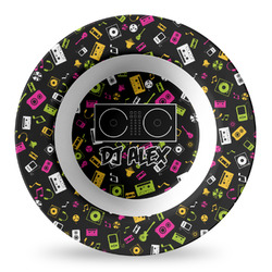 Music DJ Master Plastic Bowl - Microwave Safe - Composite Polymer (Personalized)