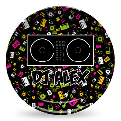 Music DJ Master Microwave Safe Plastic Plate - Composite Polymer (Personalized)