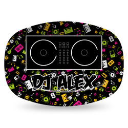 Music DJ Master Plastic Platter - Microwave & Oven Safe Composite Polymer (Personalized)