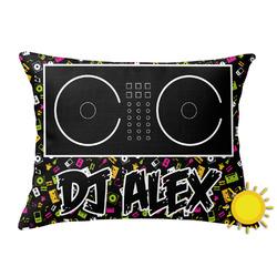 Music DJ Master Outdoor Throw Pillow (Rectangular) w/ Name or Text