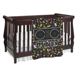 Music DJ Master Baby Blanket (Personalized)