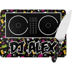 Music DJ Master Rectangular Glass Cutting Board (Personalized)