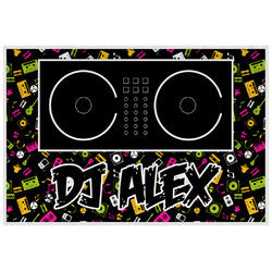 Music DJ Master Laminated Placemat w/ Name or Text