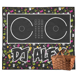 Music DJ Master Outdoor Picnic Blanket w/ Name or Text