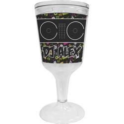 Music DJ Master Wine Tumbler - 11 oz Plastic (Personalized)