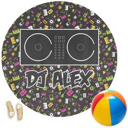 Music DJ Master Round Beach Towel (Personalized)