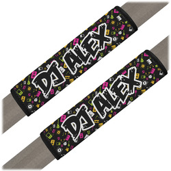 Music DJ Master Seat Belt Covers (Set of 2) (Personalized)