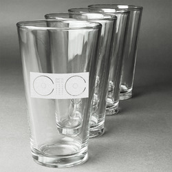 Music DJ Master Beer Glasses (Set of 4) (Personalized)