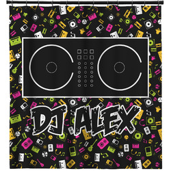 Music DJ Master Shower Curtain (Personalized)