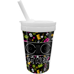 Music DJ Master Sippy Cup with Straw (Personalized)