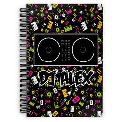 DJ Music Master Spiral Notebook (Personalized)