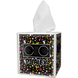 Music DJ Master Tissue Box Cover w/ Name or Text