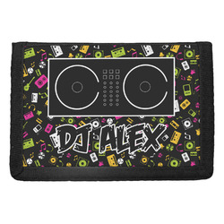 Music DJ Master Trifold Wallet w/ Name or Text