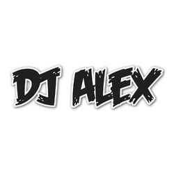 Music DJ Master Name/Text Decal - Custom Sizes (Personalized)