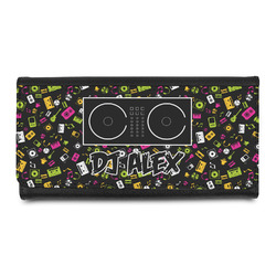 Music DJ Master Leatherette Ladies Wallet w/ Name or Text