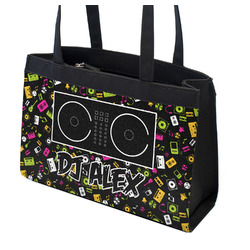 Music DJ Master Zippered Everyday Tote w/ Name or Text