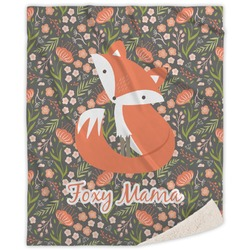 Foxy Mama Sherpa Throw Blanket