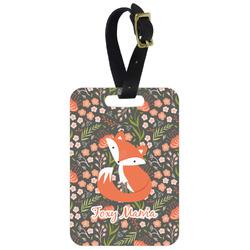 Foxy Mama Aluminum Luggage Tag