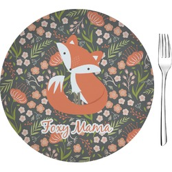 "Foxy Mama Glass Appetizer / Dessert Plates 8"" - Single or Set"