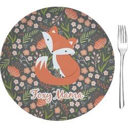 "Foxy Mama Glass Appetizer / Dessert Plates 8"" - Single or Set"