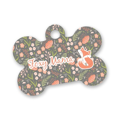 Foxy Mama Bone Shaped Dog ID Tag