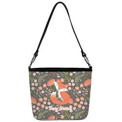 Foxy Mama Bucket Bag w/ Genuine Leather Trim