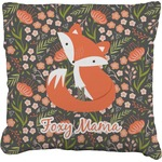 Foxy Mama Faux-Linen Throw Pillow
