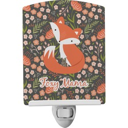 Foxy Mama Ceramic Night Light