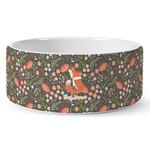 Foxy Mama Ceramic Dog Bowl