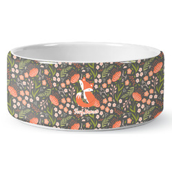 Foxy Mama Ceramic Dog Bowl