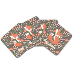 Foxy Mama Cork Coaster - Set of 4
