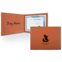 Foxy Mama Leatherette Certificate Holder