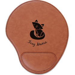 Foxy Mama Leatherette Mouse Pad with Wrist Support