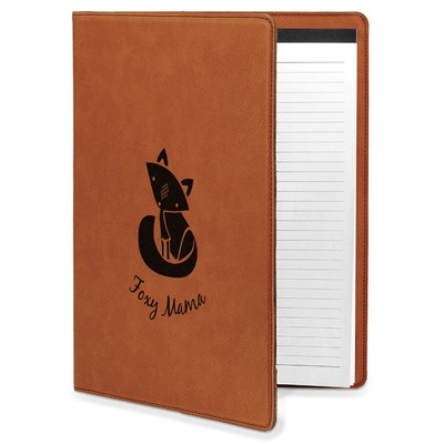 Foxy Mama Leatherette Portfolio with Notepad