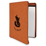Foxy Mama Leatherette Zipper Portfolio with Notepad