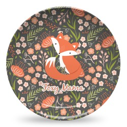 Foxy Mama Microwave Safe Plastic Plate - Composite Polymer