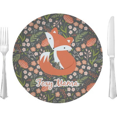 """Foxy Mama 10"""" Glass Lunch / Dinner Plates - Single or Set"""