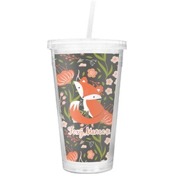 Foxy Mama Double Wall Tumbler with Straw