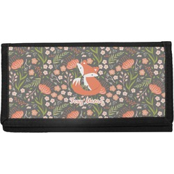 Foxy Mama Canvas Checkbook Cover
